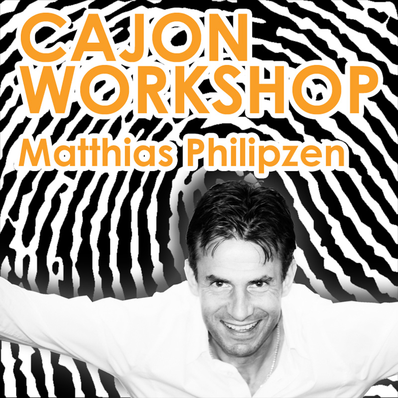 Flyer des Cajon-Workshops 2016