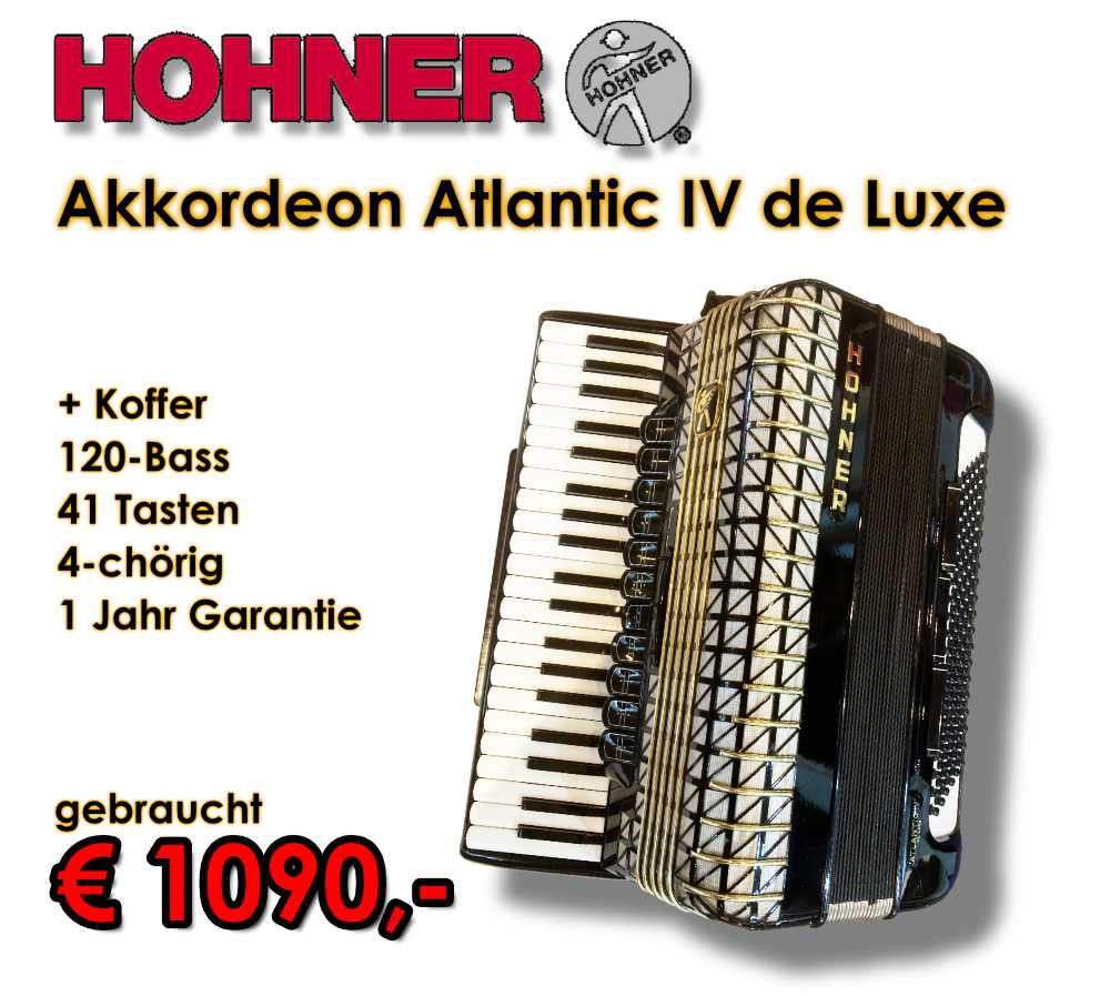 HOHNER Akkordeon Atlantic IV de Luxe