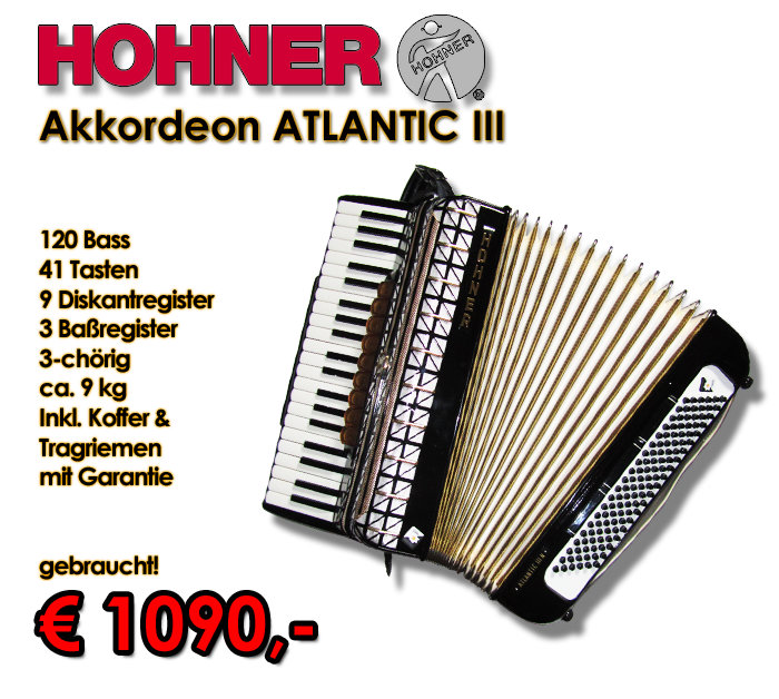HOHNER Akkordeon Atlantic III