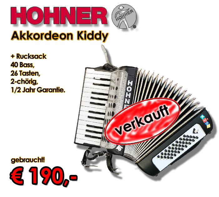 HOHNER Akkordeon Kiddy 40-Bass