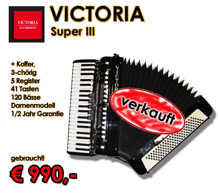 VICTORIA Akkordeon Super III
