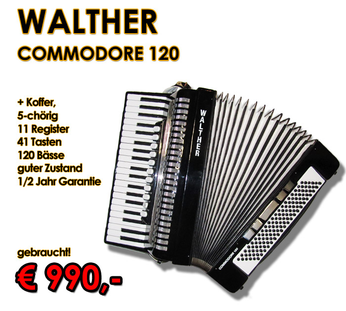 WALTHER Akkordeon Commodore 120